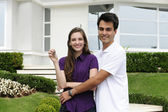 Couple buying a new house — Stock Photo