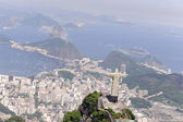 Christ Redeemer and Sugarloaf in Rio de Janeiro — Stock Photo