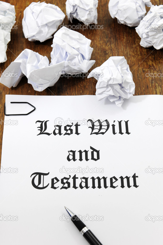 Last Will and Testament on a wooden desk  Stock Photo #11218849