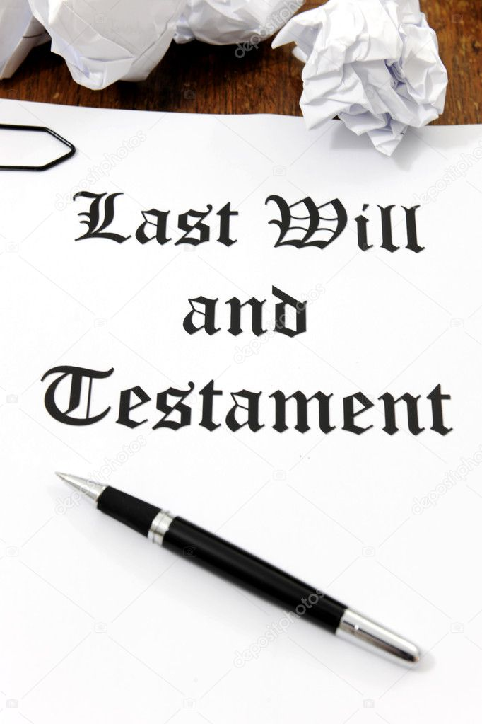 Last Will and Testament on a wooden desk  Stock Photo #11218853