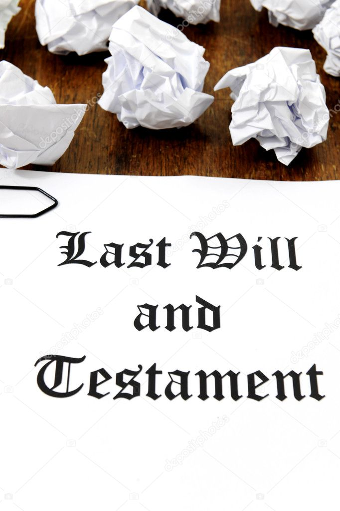 Last Will and Testament on a wooden desk — Stock Photo #11218856