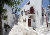Typical street in Mykonos — Stock Photo