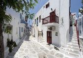 Typical street in Mykonos — Stock Photo