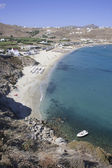 Kalo Livadi beach in Mykonos island — Stock Photo