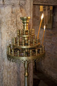 Orthodox candle holder — Stock Photo