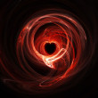 Stock Photo: Glowing red heart