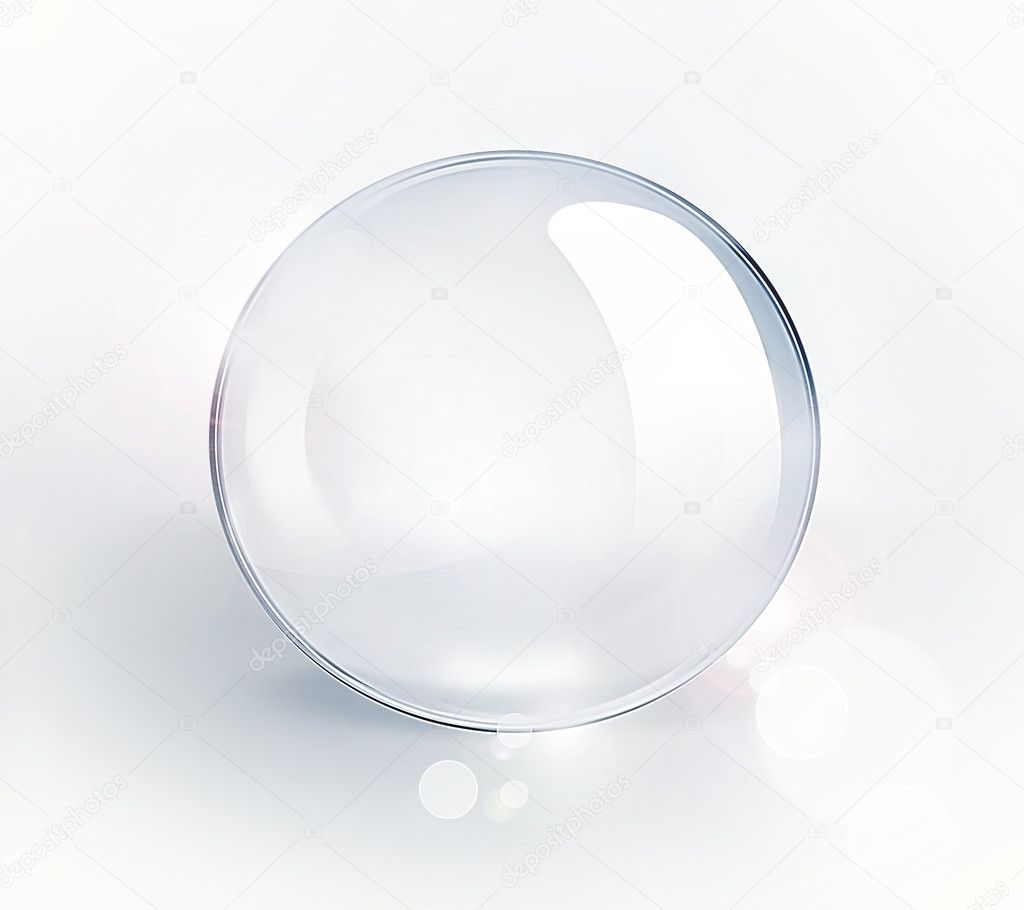 Empty glass ball on a light background — Stock Photo #11414344