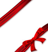 Red ribbon with a bow — Foto Stock