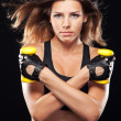 Young fit woman in sports outfit — Foto de Stock