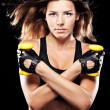 Young fit woman in sports outfit — Stock Photo #11485054