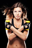 Young fit woman in sports outfit — Stock Photo
