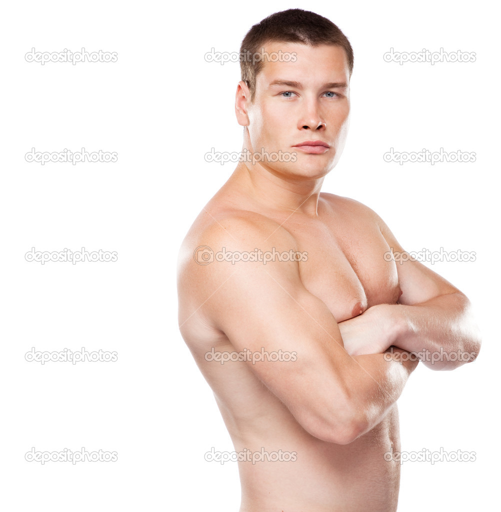 Athletic man studio portrait — Stock Photo #11522763