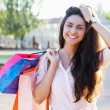 Beautiful woman with shopping bags — Stock Photo #11650640