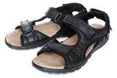 黑色男凉鞋 — 图库照片