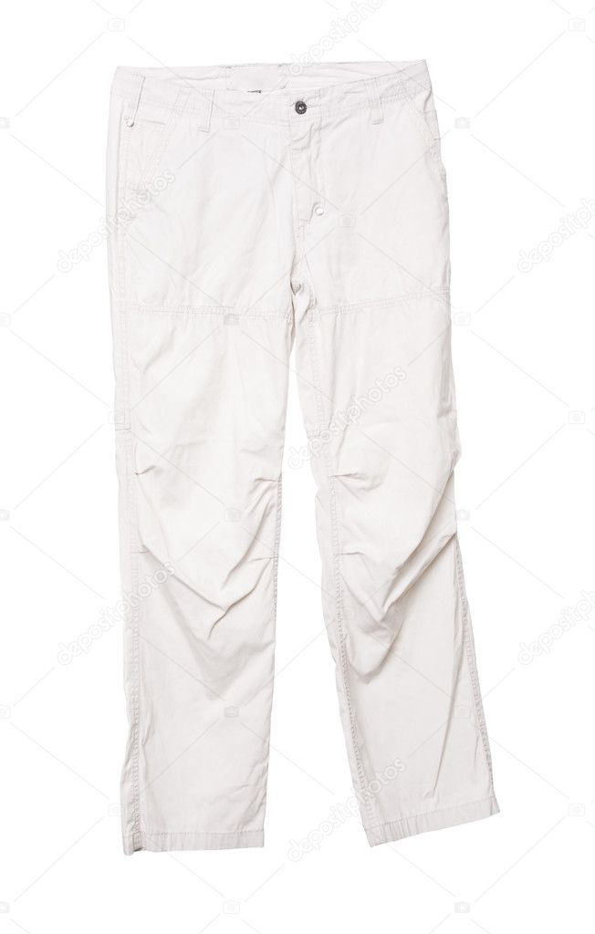 White male pants, isolated on white background — Stock Photo #11650577