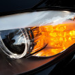 Modern car headlights — Stock Photo