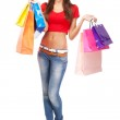 Beautiful lady with shopping bags — Stock Photo #12036757