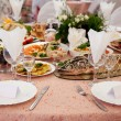 Served table in a restaurant — Stock Photo