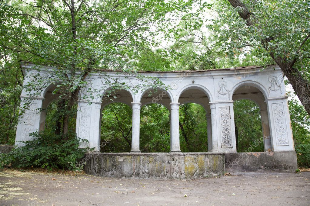 Old arc in green foliage photo — Stock Photo #12283323