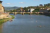 Arno river in Florence — Stock Photo