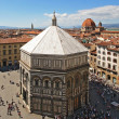 Baptistery and the city of Florence — Stock Photo