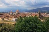 Uitzicht over florence met dom en santa croce — Stockfoto
