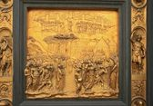 Florence baptistery golden door fragment — Stock Photo