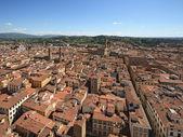 Florencja, santa croce i palazzo vecchio — Zdjęcie stockowe