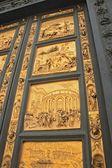 フィレンツェ洗礼堂黄金のドア — ストック写真