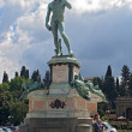 Постер, плакат: David by Michelangelo in Piazza Michelangelo