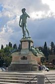 David av michelangelo i piazza michelangelo — Stockfoto