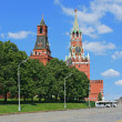 Stock Photo: Red Square and clock tower at noon