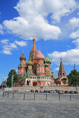 St. Basil's Cathedral at the Red Square — Stock Photo