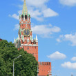Clock tower of Moscow Kremlin at noon — Stock Photo