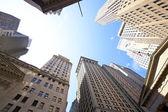 Wall street gebouwen — Stockfoto