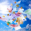 Flying Euro money — Stock Photo #11237438
