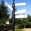 Stock Photo: Blank Directional Sign Post