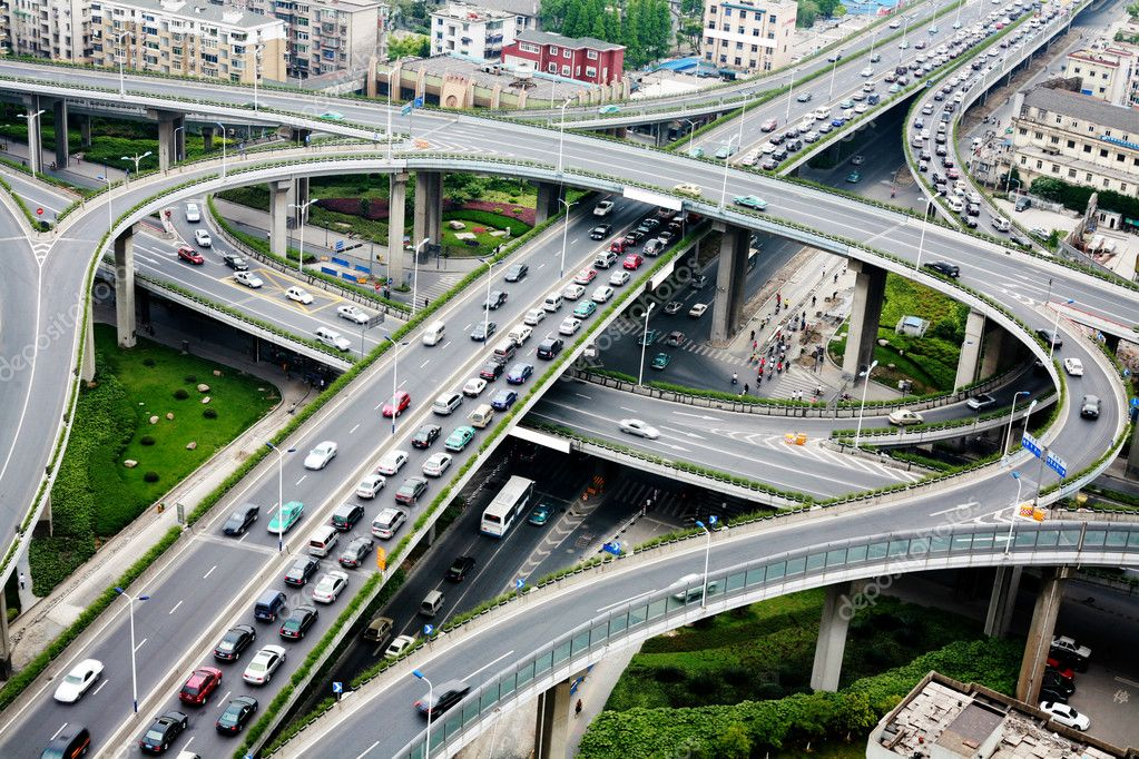 A road junction at Hangzhou — Stock Photo #10736394