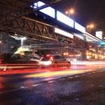 Urban night traffics view — Stock Photo #10740090