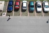 парковка маленькая модель автомобилей — Стоковое фото