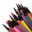Many colorful pens - Stock Photo