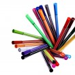 Many colorful pens — Foto Stock