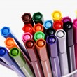 Many colorful pens - Stok fotoğraf