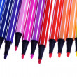 Many colorful pens — Stock Photo