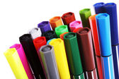Many colorful pens — Stockfoto