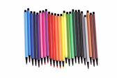 Mnoho barevných pera — Stock fotografie