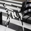 A zebra pattern chairs — Stock Photo