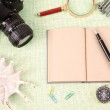 A pile of clutter items — Stock Photo
