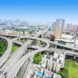 Stock Photo: Overpass and lot of cars