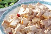 Primo piano di una deliziosa cucina cinese, tofu — Foto Stock